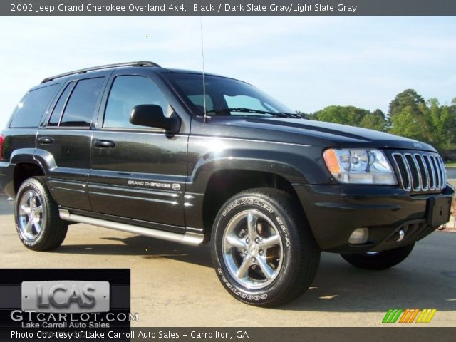 black 2002 jeep grand cherokee overland 4x4 dark slate. Black Bedroom Furniture Sets. Home Design Ideas
