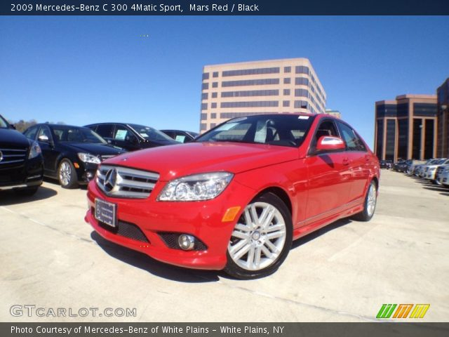 Mars red 2009 mercedes benz c 300 4matic sport black for 2009 mercedes benz c 300