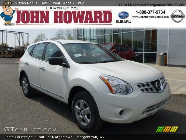 Pearl white 2012 nissan rogue s awd gray interior - 2012 nissan rogue exterior colors ...