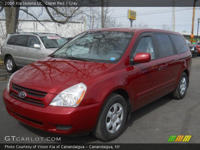 claret red 2006 kia sedona lx gray interior gtcarlot. Black Bedroom Furniture Sets. Home Design Ideas