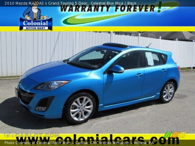 celestial blue mica 2010 mazda mazda3 s grand touring 5. Black Bedroom Furniture Sets. Home Design Ideas
