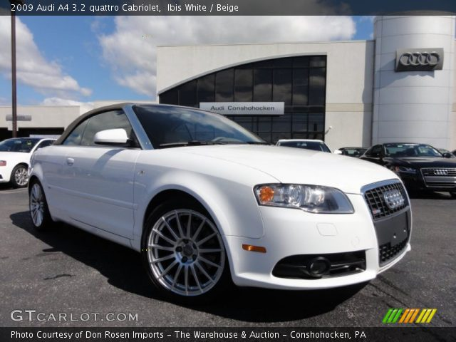 ibis white 2009 audi a4 3 2 quattro cabriolet beige. Black Bedroom Furniture Sets. Home Design Ideas