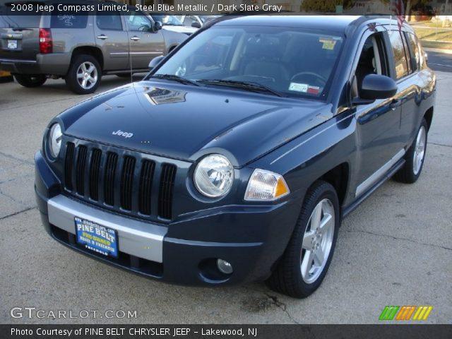 steel blue metallic 2008 jeep compass limited dark. Black Bedroom Furniture Sets. Home Design Ideas
