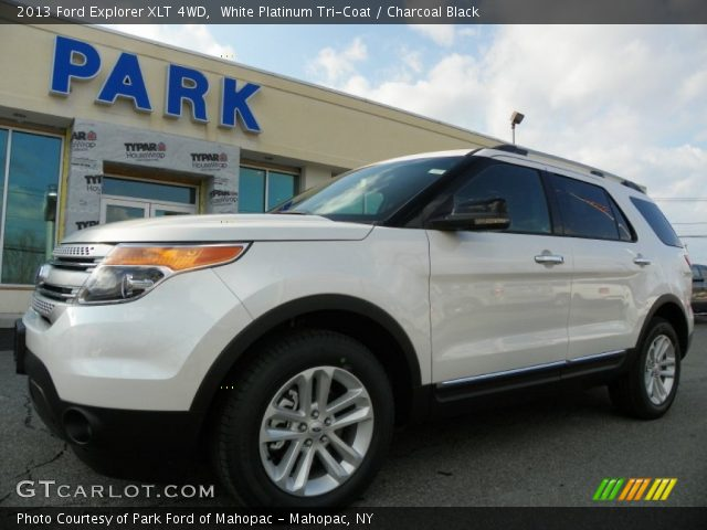 White Platinum Tri-Coat 2013 Ford Explorer XLT 4WD with Charcoal Black ...