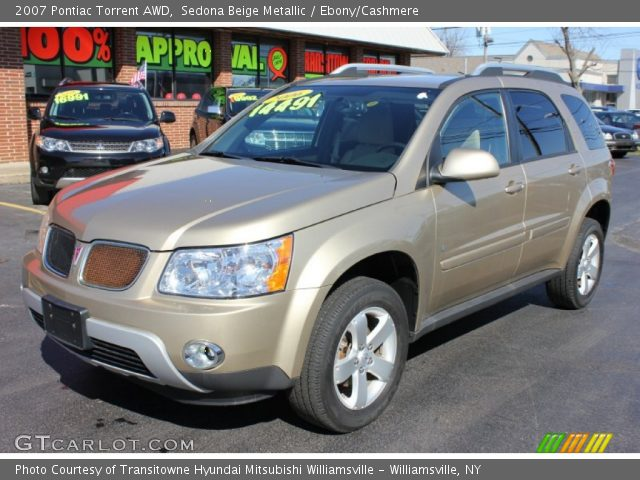 Sedona beige metallic 2007 pontiac torrent awd ebony for Inside 2007 torrent