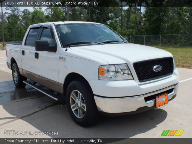 oxford white 2006 ford f150 xlt supercrew tan interior. Black Bedroom Furniture Sets. Home Design Ideas