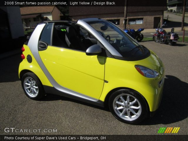 light yellow 2008 smart fortwo passion cabriolet design black interior. Black Bedroom Furniture Sets. Home Design Ideas