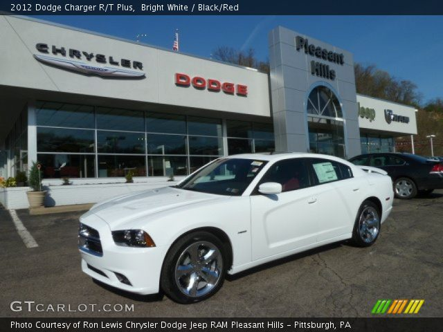Bright White 2012 Dodge Charger R T Plus Black Red
