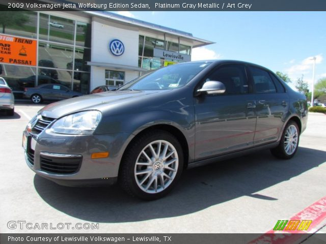 platinum gray metallic 2009 volkswagen jetta wolfsburg. Black Bedroom Furniture Sets. Home Design Ideas