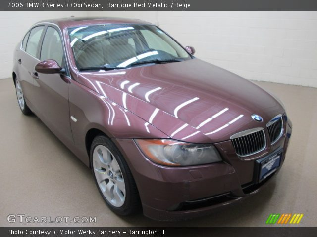 barrique red metallic 2006 bmw 3 series 330xi sedan beige interior vehicle. Black Bedroom Furniture Sets. Home Design Ideas