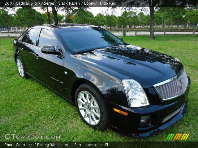 black raven 2007 cadillac sts v series ebony tango. Black Bedroom Furniture Sets. Home Design Ideas