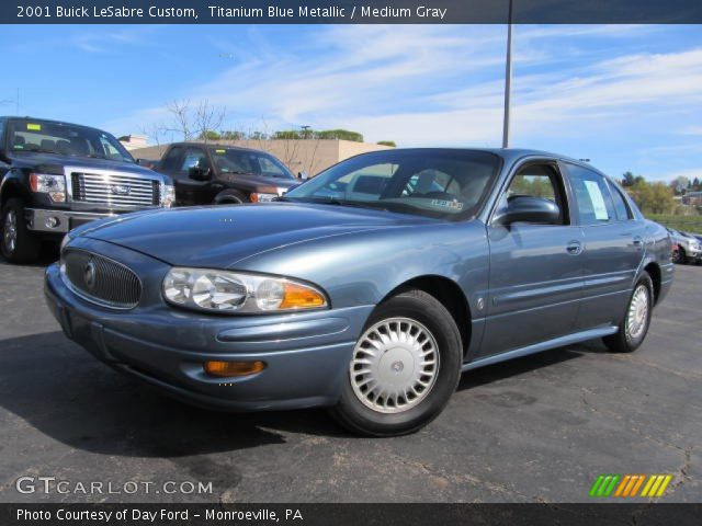 titanium blue metallic 2001 buick lesabre custom medium gray interior. Black Bedroom Furniture Sets. Home Design Ideas