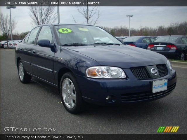 blue dusk metallic 2006 nissan sentra 1 8 s charcoal interior vehicle. Black Bedroom Furniture Sets. Home Design Ideas