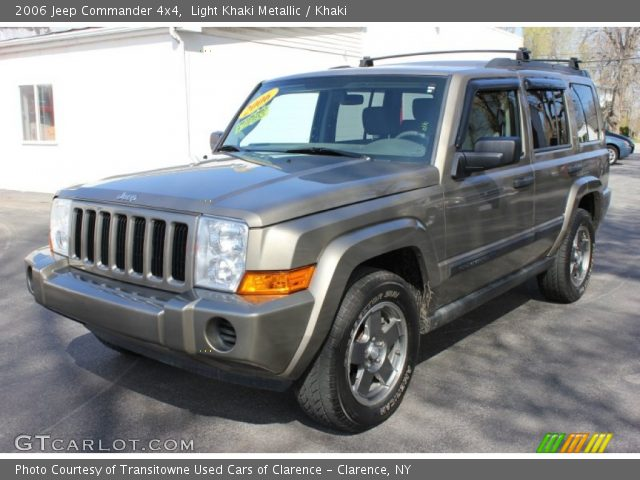 Light Khaki Metallic 2006 Jeep Commander 4x4 Khaki Interior Vehicle Archive