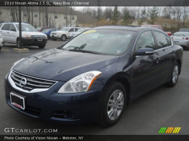 navy blue 2010 nissan altima 2 5 sl charcoal interior vehicle archive 63451073. Black Bedroom Furniture Sets. Home Design Ideas