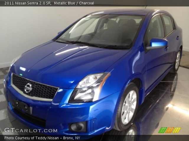 2011 Nissan Sentra 2.0 SR in Metallic Blue. Click to see large photo.