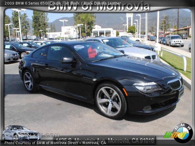 jet black 2009 bmw 6 series 650i coupe black dakota. Black Bedroom Furniture Sets. Home Design Ideas