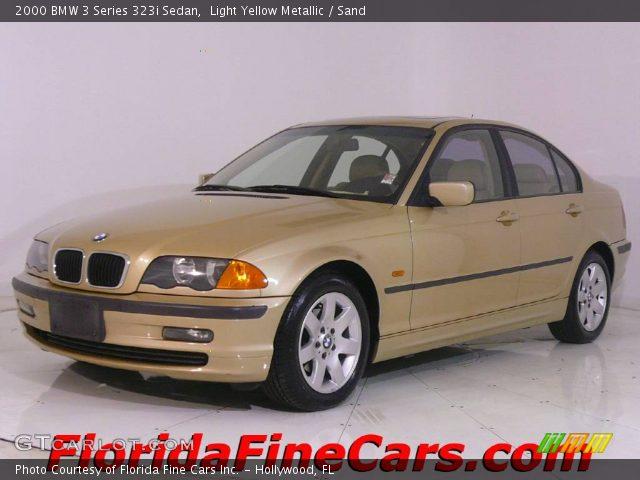 2000 BMW 3 Series 323i Sedan in Light Yellow Metallic