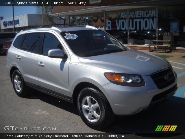 bright silver 2007 hyundai santa fe gls gray interior vehicle archive 63549084. Black Bedroom Furniture Sets. Home Design Ideas