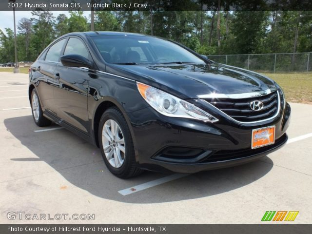 midnight black 2012 hyundai sonata gls gray interior gtcarlot. Black Bedroom Furniture Sets. Home Design Ideas