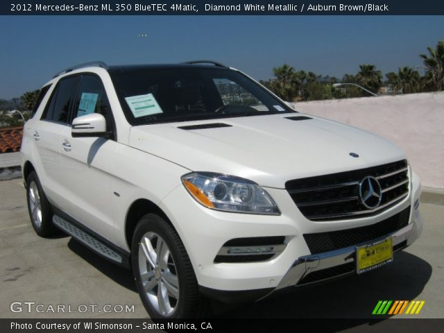 2012 Mercedes-Benz ML 350 BlueTEC 4Matic in Diamond White Metallic