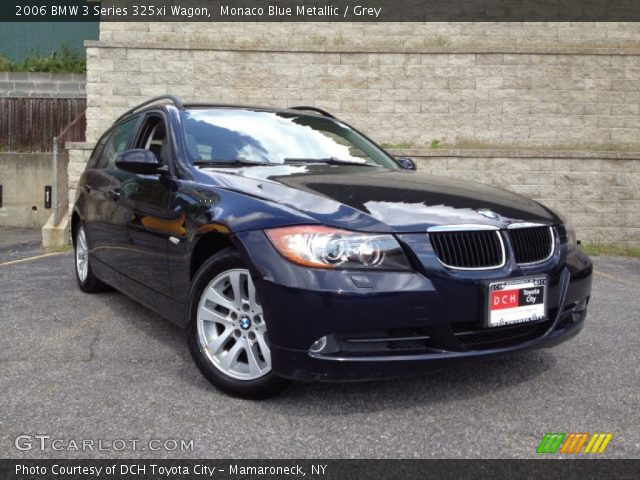 monaco blue metallic 2006 bmw 3 series 325xi wagon grey interior vehicle. Black Bedroom Furniture Sets. Home Design Ideas