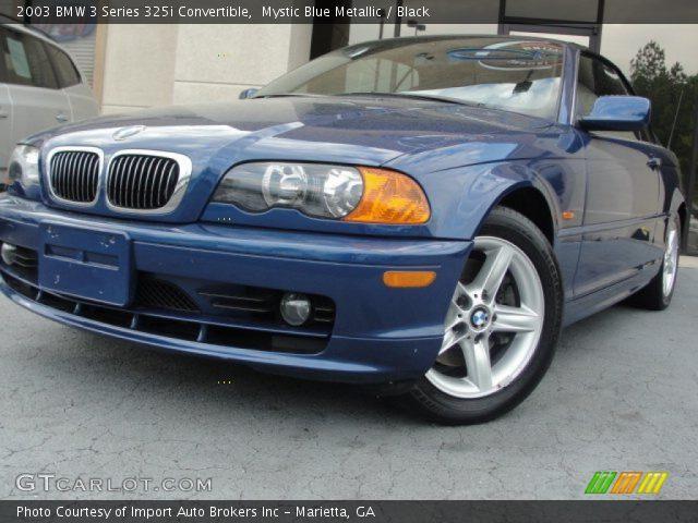 2003 BMW 3 Series 325i Convertible in Mystic Blue Metallic