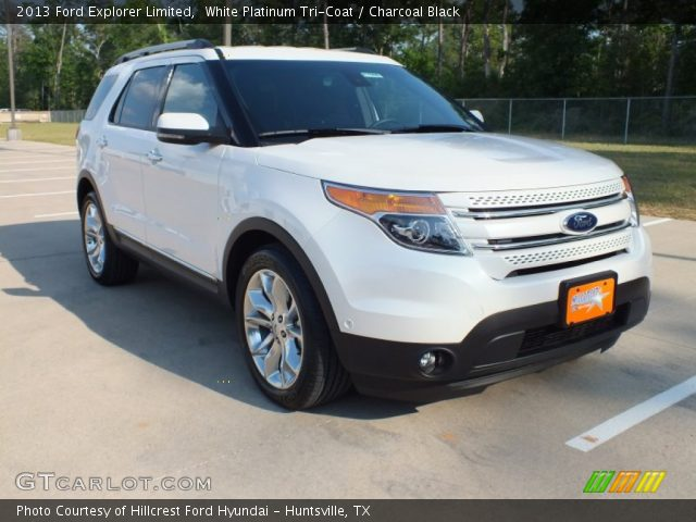 white platinum tri coat 2013 ford explorer limited with charcoal black. Cars Review. Best American Auto & Cars Review
