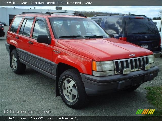 flame red 1995 jeep grand cherokee laredo 4x4 gray interior vehicle archive. Black Bedroom Furniture Sets. Home Design Ideas