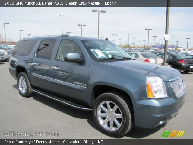 stealth gray metallic 2008 gmc yukon xl denali awd ebony interior vehicle. Black Bedroom Furniture Sets. Home Design Ideas