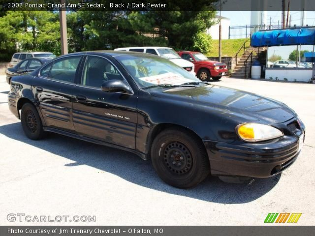 black 2002 pontiac grand am se sedan dark pewter interior vehicle archive. Black Bedroom Furniture Sets. Home Design Ideas