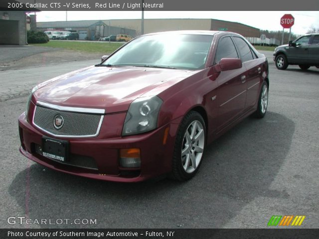 red line 2005 cadillac cts v series light neutral interior vehicle archive. Black Bedroom Furniture Sets. Home Design Ideas