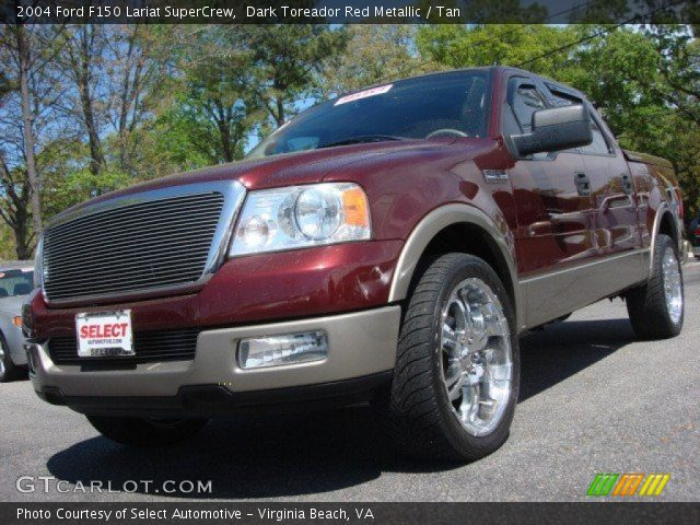 dark toreador red metallic 2004 ford f150 lariat. Black Bedroom Furniture Sets. Home Design Ideas