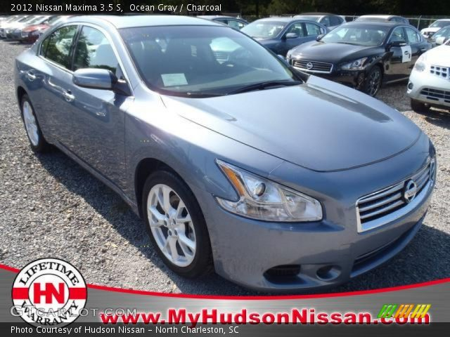 ocean gray 2012 nissan maxima 3 5 s charcoal interior vehicle archive 63670864. Black Bedroom Furniture Sets. Home Design Ideas