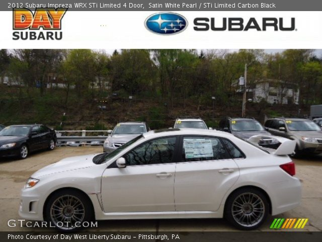 2012 Subaru Impreza WRX STi Limited 4 Door in Satin White Pearl
