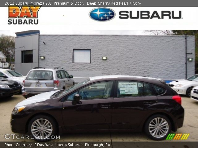2012 Subaru Impreza 2.0i Premium 5 Door in Deep Cherry Red Pearl