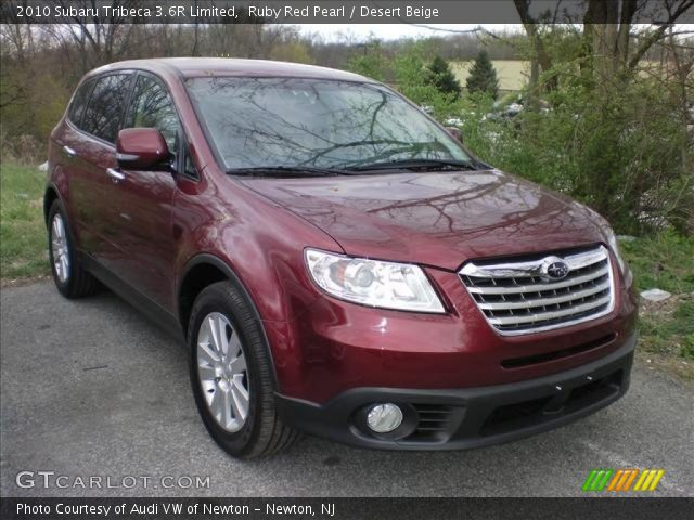 ruby red pearl 2010 subaru tribeca 3 6r limited desert. Black Bedroom Furniture Sets. Home Design Ideas