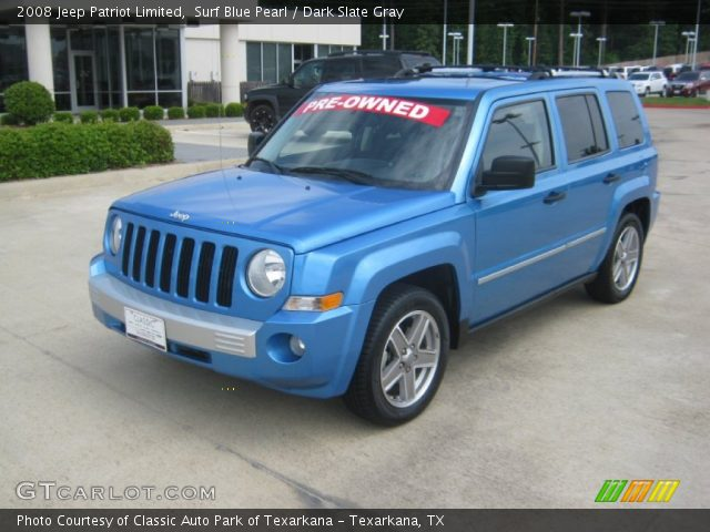 surf blue pearl 2008 jeep patriot limited dark slate. Black Bedroom Furniture Sets. Home Design Ideas