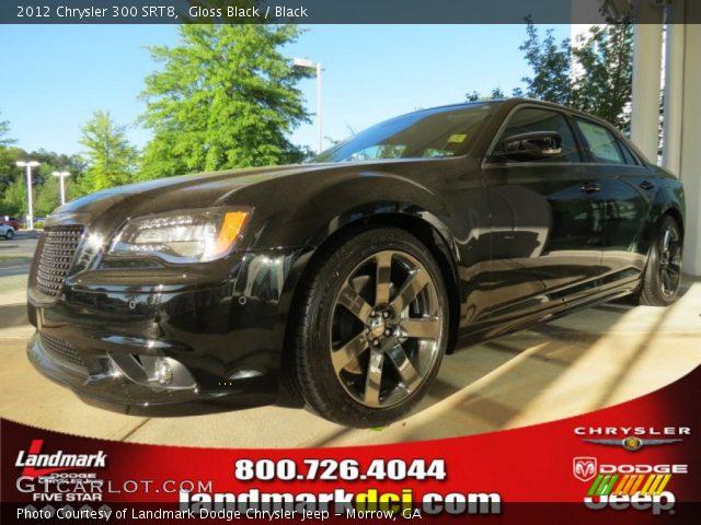 Gloss Black 2012 Chrysler 300 Srt8 Black Interior Vehicle Archive 63723438