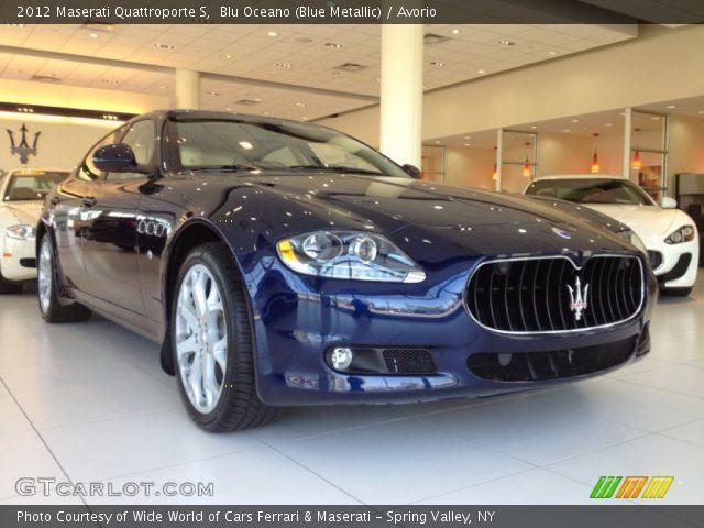 2012 Maserati Quattroporte S in Blu Oceano (Blue Metallic)
