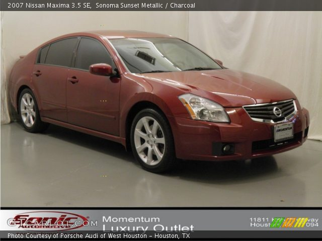 sonoma sunset metallic 2007 nissan maxima 3 5 se charcoal interior vehicle. Black Bedroom Furniture Sets. Home Design Ideas