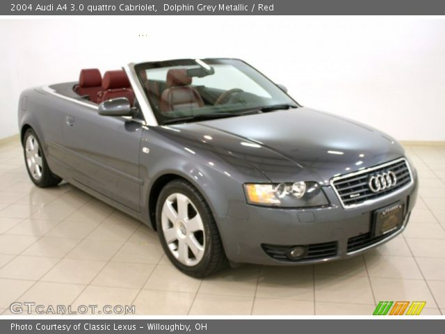 dolphin grey metallic 2004 audi a4 3 0 quattro cabriolet red interior. Black Bedroom Furniture Sets. Home Design Ideas