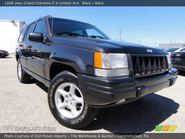 black 1998 jeep grand cherokee 5 9 limited 4x4 black interior vehicle. Black Bedroom Furniture Sets. Home Design Ideas