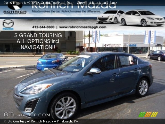 gunmetal blue mica 2010 mazda mazda3 s grand touring 4. Black Bedroom Furniture Sets. Home Design Ideas