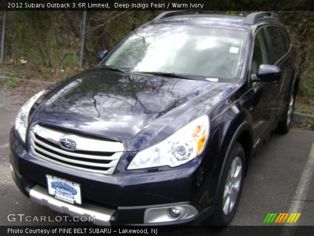 deep indigo pearl 2012 subaru outback 3 6r limited warm ivory interior. Black Bedroom Furniture Sets. Home Design Ideas