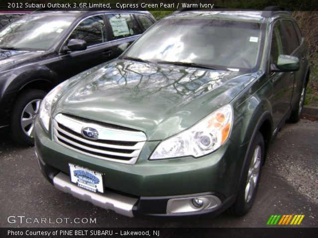 cypress green pearl 2012 subaru outback 3 6r limited warm ivory interior. Black Bedroom Furniture Sets. Home Design Ideas