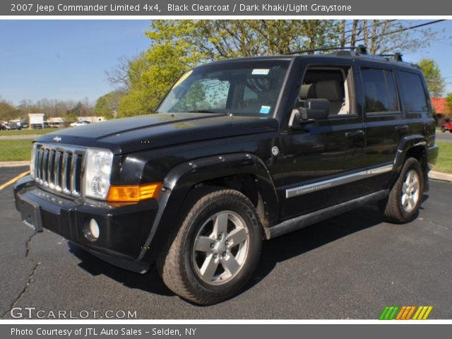 black clearcoat 2007 jeep commander limited 4x4 dark. Black Bedroom Furniture Sets. Home Design Ideas