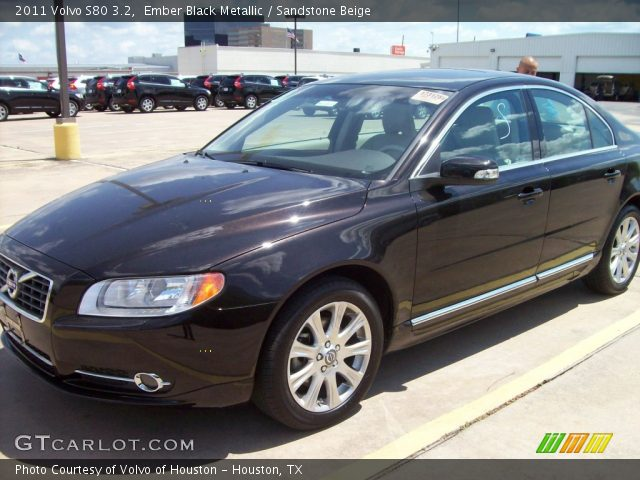 ember black metallic 2011 volvo s80 3 2 sandstone. Black Bedroom Furniture Sets. Home Design Ideas