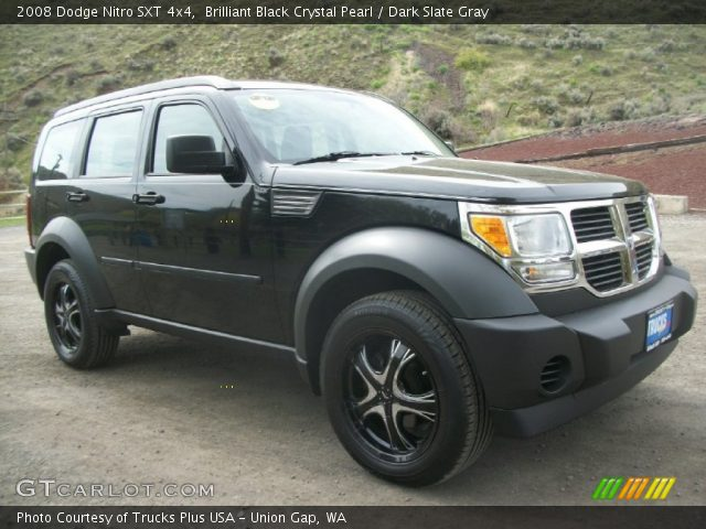 brilliant black crystal pearl 2008 dodge nitro sxt 4x4. Black Bedroom Furniture Sets. Home Design Ideas