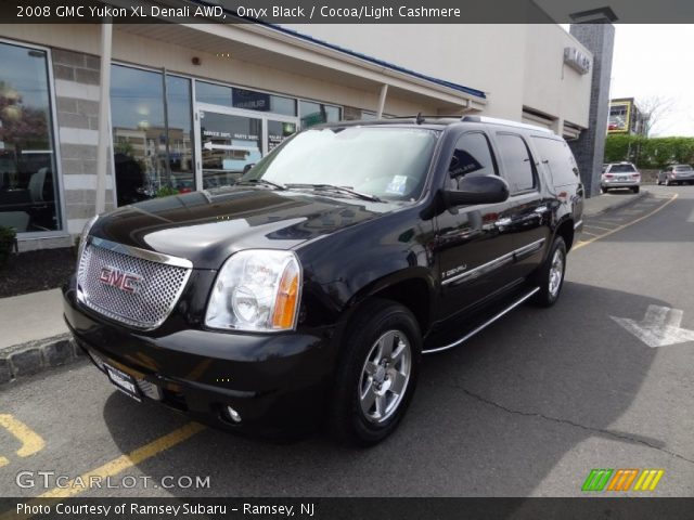 onyx black 2008 gmc yukon xl denali awd cocoa light cashmere interior. Black Bedroom Furniture Sets. Home Design Ideas